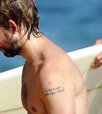Dominic Monaghan back tattoo