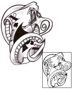Show Details For Card Tattoo Horror CHF 00498